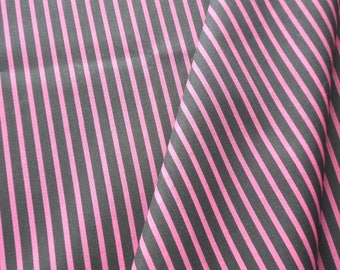 "a beautiful cut of cotton fabric ""rose stripe on black"""