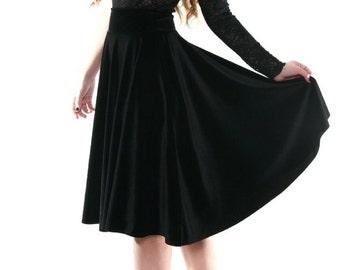 Velvet Flowing Skirt
