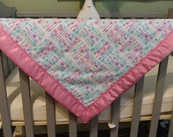 Baby blanket, pink arrows