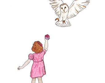 Untitled Girl and Owl