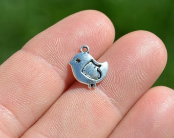 1  Silver Little Baby Chick Charm SC3524