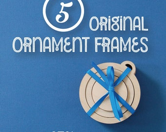 Embroidery Frames for Christmas Ornaments MULTI PACK of 5 DIY wood frames for hand embroidery
