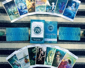 78 Tarot Nautical - Tarot of the Water - Just the Deck - LE - divination, occult, Indie Deck, Sea Tarot, Water Tarot, Ocean Tarot
