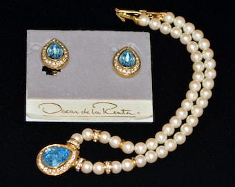 Oscar de la Renta. Vintage set.