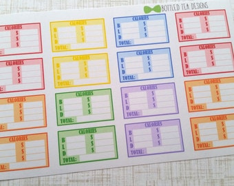 Calorie Counting Stickers (Set of 16) Item #016