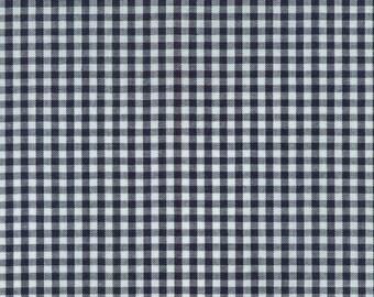 "Navy 1/8"" Plaid Cotton, Carolina Gingham, Blue Scarf Fabric, Navy White Quilting fabric, Apparel Fabric,Plaid cotton Scarf,Robert Kaufman"