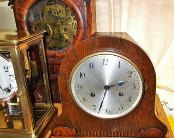 Antique Junghans Wurttemburg German Mantel Clock