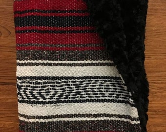 Mexican Baby Blanket- RED
