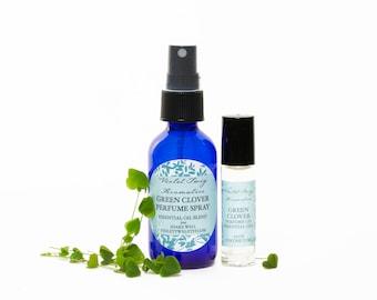 Green Clover Perfume - Essential Oil Perfume - Green Perfume - Natural Perfume - Essential Oil Spray - Natural Perfume Spray - Perfume Oil