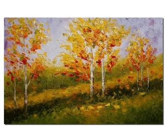 Canvas Art, Wall Art, Tree Painting, Landscape Painting, Wall Art, Abstract Art, Oil Painting, Oil Painting, Abstract Painting, Large Art