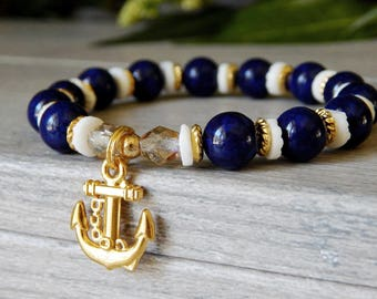 Anchor Jewelry, Anchor Bracelet, Anchor Charm, Nautical, Ocean Jewelry, Beach Bracelet, Beach Jewelry, Nautical Jewelry, Nautical Bracelet