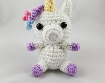 Crochet Amigurumi Character - Pastel Unicorn