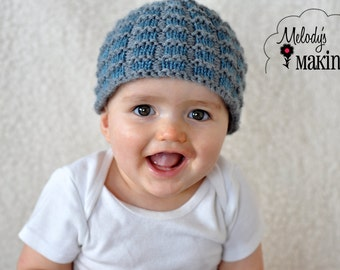 Knit Hat Pattern - Baby Hat Knitting Pattern - Beanie Knit Pattern for Boys - Baby Knit Hat Pattern - Knit Hat Pattern for Boys