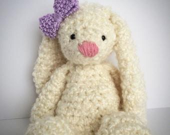 easter gift, Crochet easter, Stuffed bunny, crochet bunny, first easter, baby gift, crochet baby toy, crochet baby gift, nursery decor