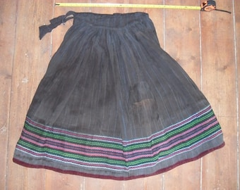 Vintage ethnic folk embroidered skirt from Macedonia