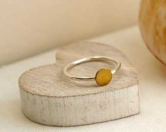 Sterling Silver & Brass Stacking Ring