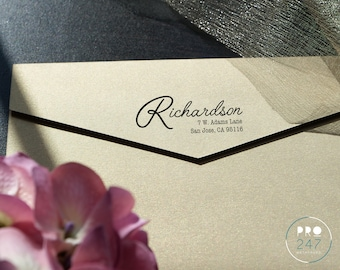 Customized Self-Inking Return Address Stamp / Wood-mount Rubber Stamp / Clear Acrylic Block (RS0013)