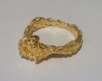 Organic Gold Ring
