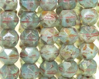 Czech Glass, English Cut, 10mm, 15 Beads