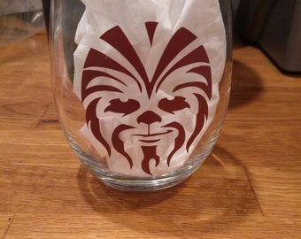 Star wars chewbacca whiskey wine glass