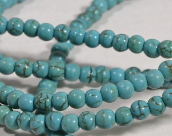 Magnesite Beads 4mm Gemstone Beads Jewelry Making Supplies Bead Supplies