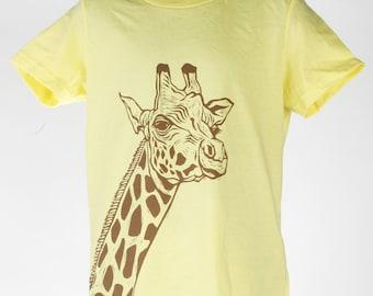 Giraffe on Lemon Children's American Apparel T Shirt 2t, 4t, 6t, 8y, 10y, 12y Ready To Ship!!!!