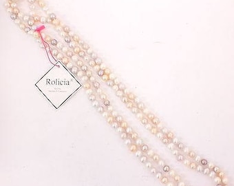 ROLICIA Multi Colour FRESHWATER PEARL Necklace (8-9mm, 165cm) With Tag