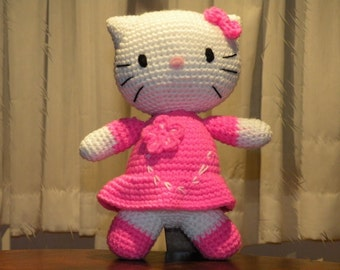 PDF - INSTANT DOWNLOAD - Kitty - 10.8 inches / 27 cm - amigurumi doll crochet pattern in English