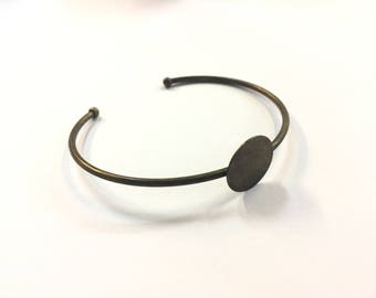 2 bracelets Bangle set bronze 15mm for jewelry designs