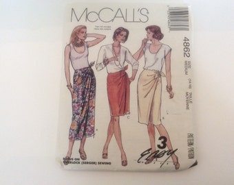 McCall's Skirt Pattern Easy Sewing 4862 Size Medium