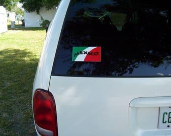 MEXICO flag Bandera Vinyl Decal Sticker NEW