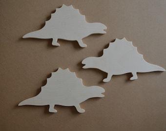 Stegosaurus, Wooden Stegosaurus Cut Out, Dinosaur, Set of 3, Nursery, Wall Decor, Boys Room Decor, Wall Art, Wall Hanging