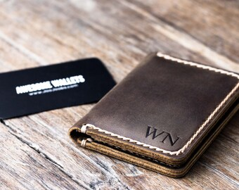Wallet, PERSONALIZED Leather Wallet, Card Wallet, Mens Wallet, Womens Wallet, Minimalist Wallet, Handmade Gift Idea - #010