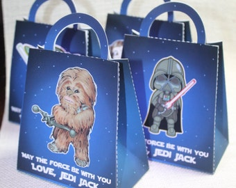 Personalized Star wars inspired favor bags, Star wars favors, Star wars party, Set of 12, Star wars birthday