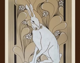 Drawing original rabbit/bunny on kraft paper