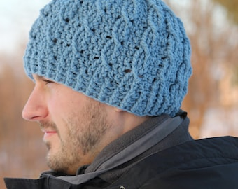 Cable Cross Beanie for newborns, babies, toddlers, and adults