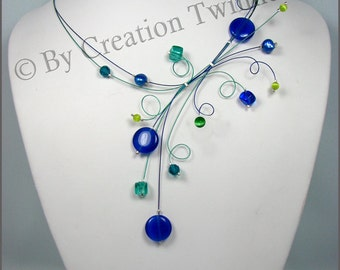 modern jewelry,royal blue necklace, gift for women,wedding necklace,elegant necklace,bridesmaids gift,funky necklace,contemporary necklace,