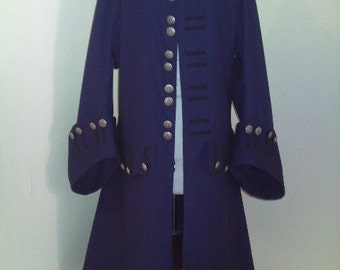 Pirate Jack sparrow theatrical frock coat stage costume