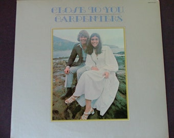 """Carpenters - Close to You - """"We've Only Just Begun"""" - """"Baby It's You"""" - """"I'll Never Fall In Love Again"""" - A&M 1970 - Vintage Vinyl LP Record"""