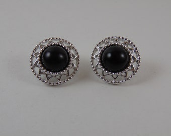 Vintage Sarah Coventry 1970 JET SET Clip On Earrings