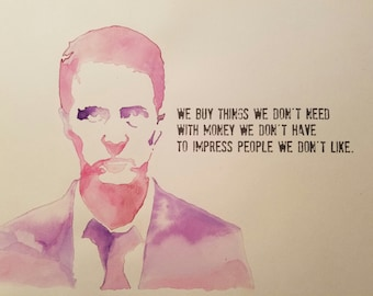 Fight Club Watercolor Print