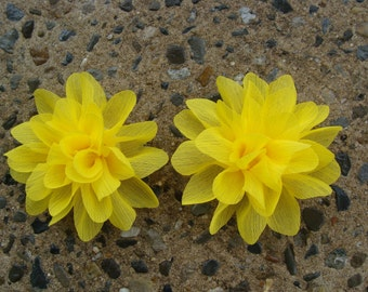 2 Flower Hair Clips You Pick any TWO Pigtails hair clip pigtails hair bow silk flower hair clip