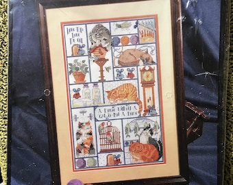 Cats, Cats, Cats Counted Cross-Stitch Kit