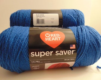Blue Suede -Red Heart Super Saver size yarn 100% acrylic worsted weight.   - 3005