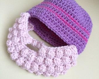 Pink Beard Baby Hat - Girl Beard Baby Hat - Baby Girl Beard Hat - Pink Beard for Girls - Crochet Customized Girl Hat - Toddler Girl Hat
