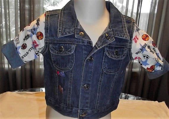 Refurbished Infant Boys Denim Jacket, Size 6-9mo