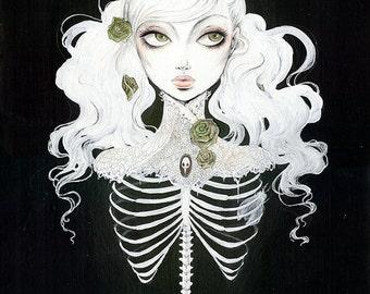 "Poster ""Ribcaged"" (Illustration, pop surrealism, comic)"