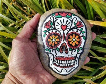 Day of the Dead skull stone