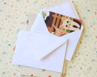 Smooth White C6 plain envelopes
