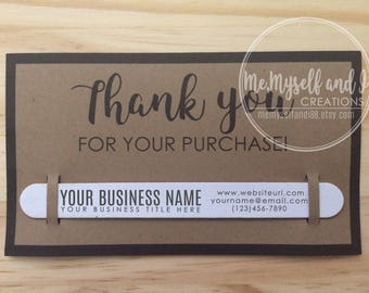 Kraft Business Thank You Cards with Custom Nail File / Business Cards /  Small Gifts / Promotional Products / Promotional Items / Marketing